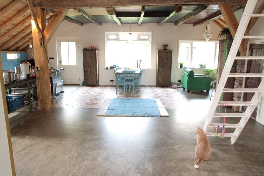 Een gietvloer is geschikt voor iedere ruimte